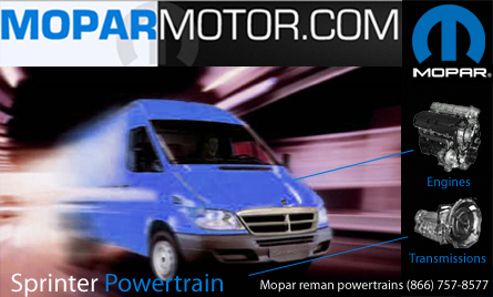 Mopar Motor Sprinter Powertrain